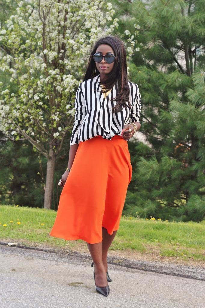 ALL DIFFERENT STYLES OF ORANGE CHIFFON SKIRTS FOR WOMEN 3