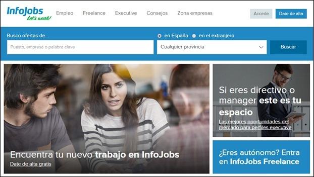 Abrir cuenta Infojobs - Página de Inicio