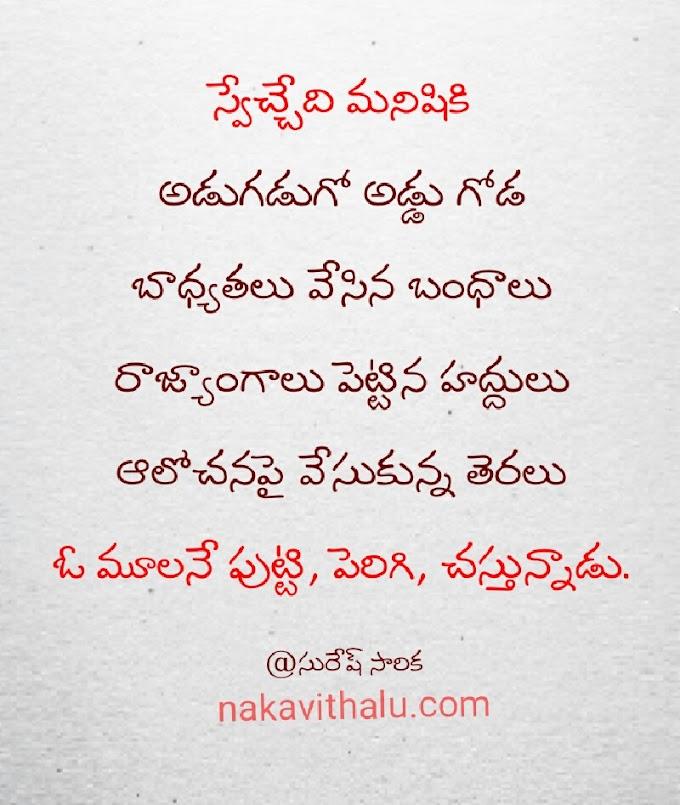 స్వేచ్చేది మనిషికి -Telugu kavithalu
