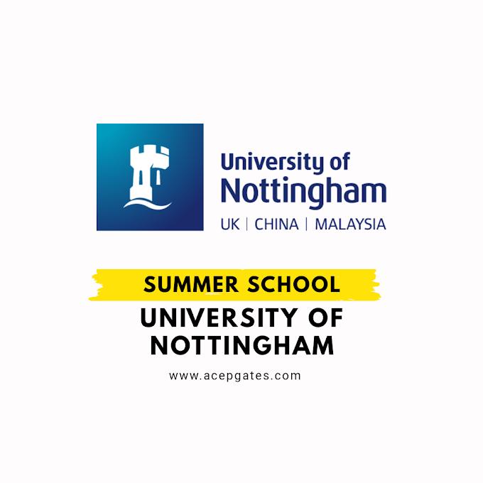 International Summer School Program University of Nottingham Malaysia 2021