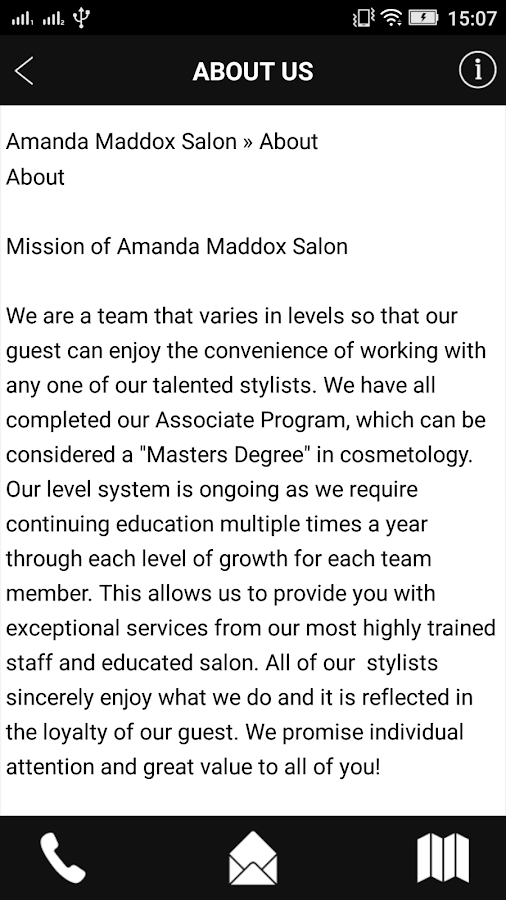 Amanda Maddox Salon- screenshot