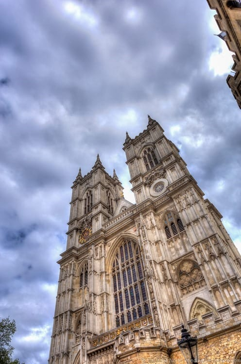 Towers of Westminster abbey London
