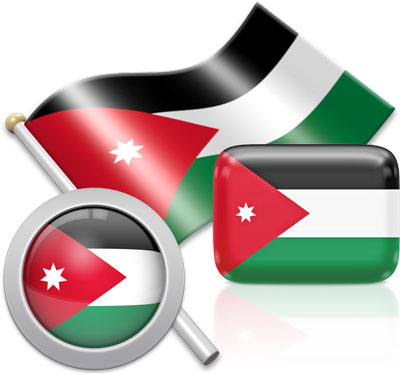 Jordanian flag icons pictures collection