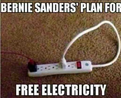 sanders plan for free electricity