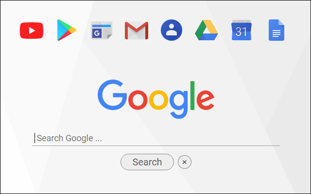 New Tab Start Page