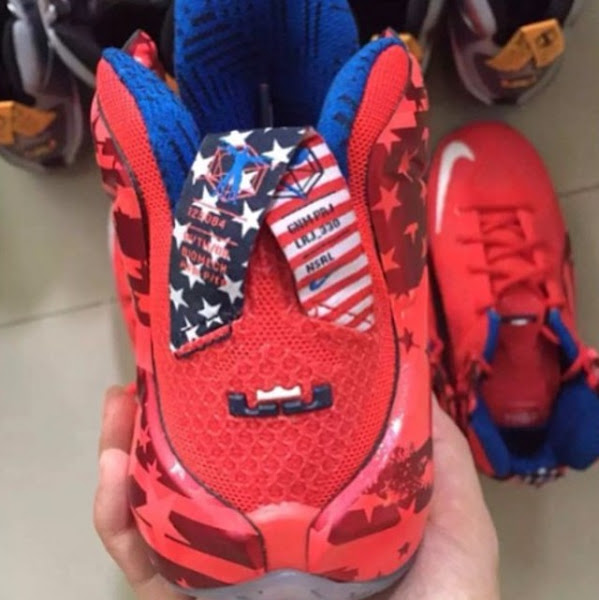 Closer Look at the Patriotic Nike LeBron 12 4th of July