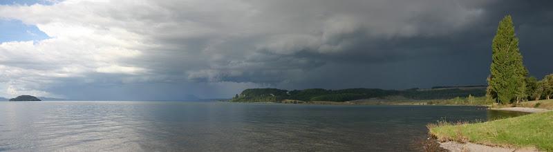 Lake Taupo beach panorama