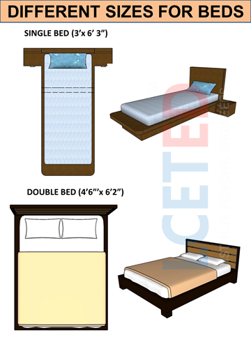 Different sizes for beds