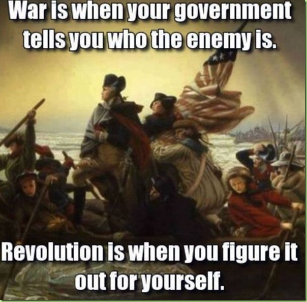 war revolution see the difference