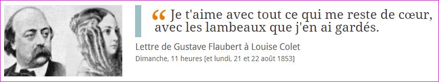 Lettre de Gustave Flaubert à Louise Colet
