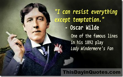 Oscar Wilde temptation quote WM