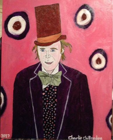 Charlie Chittenden Paintings: No 630 Portrait of Gene Wilder
