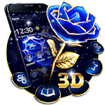 Crystal Rose Love 3D Theme Icon
