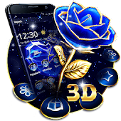 Crystal Rose Love 3D Theme