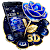 Crystal Rose Love 3D Theme file APK for Gaming PC/PS3/PS4 Smart TV