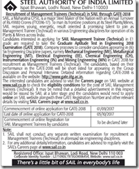 SAIL Management Trainees 2017 www.indgovtjobs.in