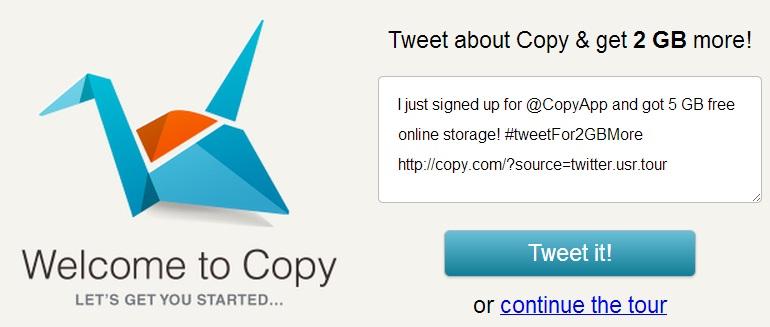 online storage site tweet