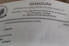 Hasil Audit BPK RI, GEMASURA Laporkan Pejabat PUPR Kab.Bogor Kepada Kapolres dan Kejaksaan Negeri Cibinong