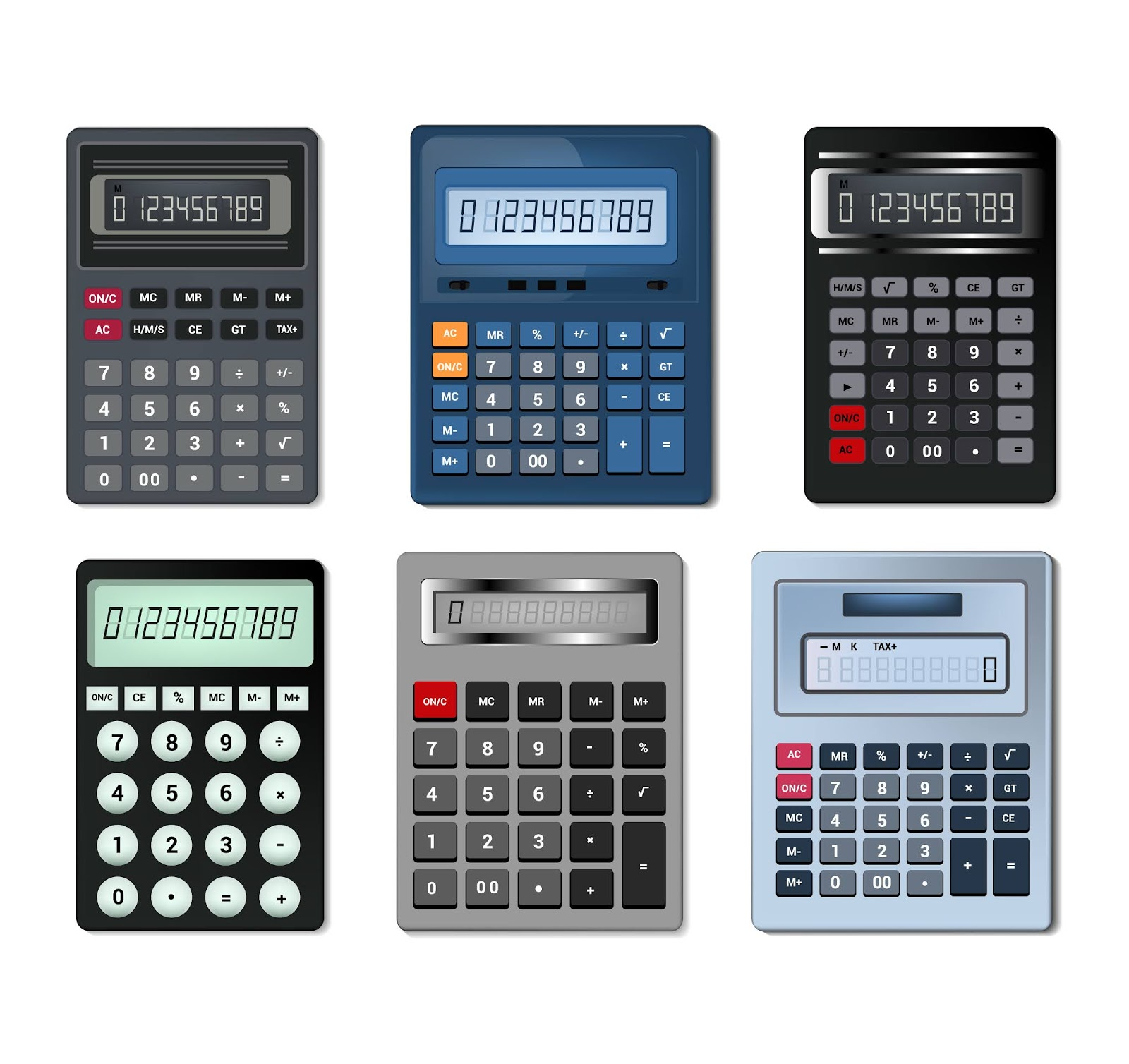 Calculator Vector Business Accounting Free Download Vector CDR, AI, EPS and PNG Formats