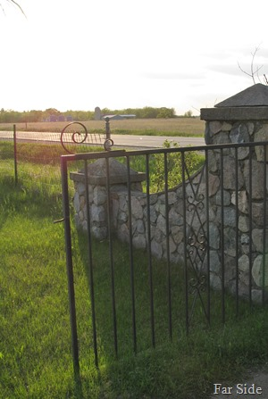 Stone work at Linnell Cemetery