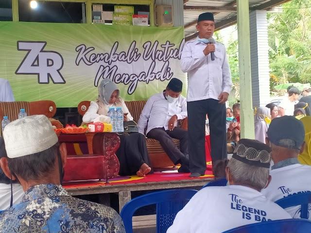 Kampanye di Sebamban Baru, Rusli 'Dihadiahi'  Aduan Penyerobotan Lahan