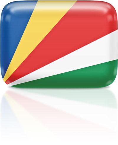 Seychellois flag clipart rectangular