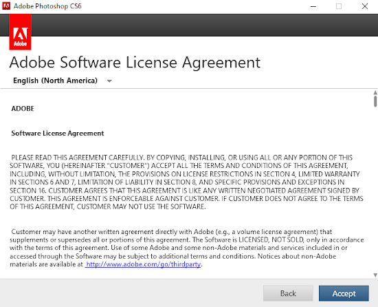 Adobe software license agreement