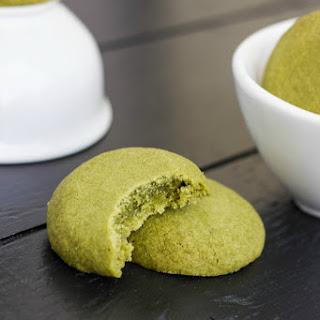 Matcha Green Tea Shortbread Cookies.