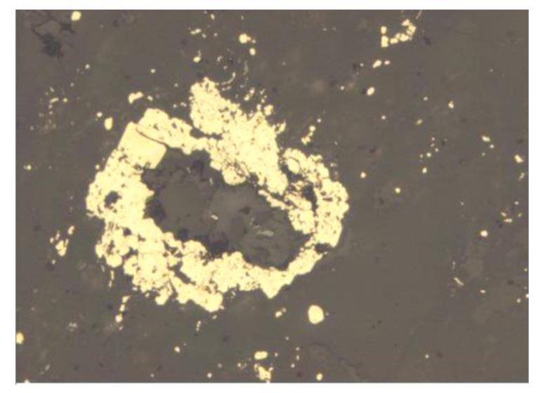 Выделения пирита в сероцветных метасоматитах