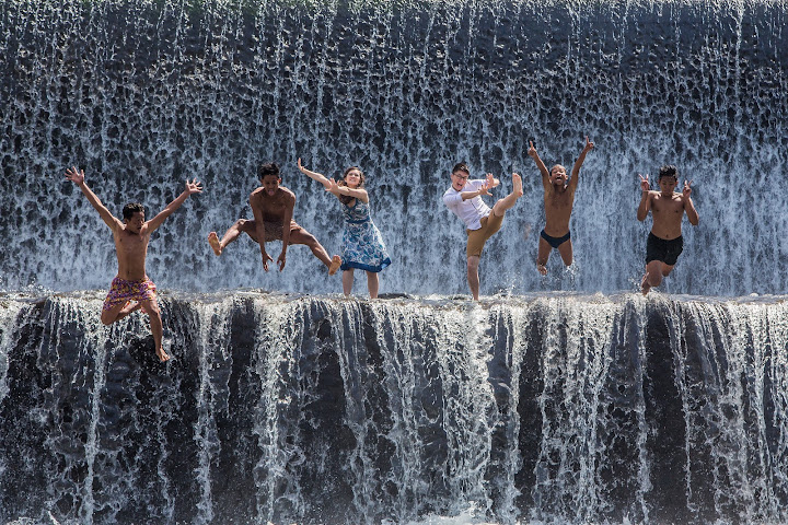 jumping waterfall