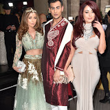 OIC - ENTSIMAGES.COM - Abi Clarke, Junaid Ahmed and Jessica Hayes at the The Asian Awards in London 7th April  2016 Photo Mobis Photos/OIC 0203 174 1069