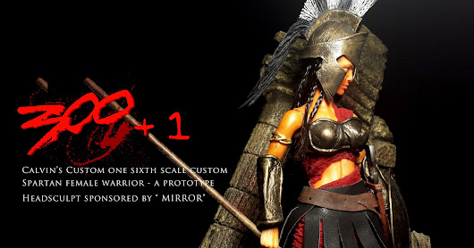 "Calvin's Custom 1:6 One Sixth Scale Spartan Female Warrior Headsculpt sponsored by ""MIRROR"""