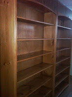 My beautiful bookshelves...empty