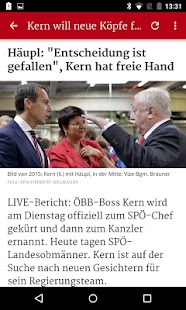 kurier.at- screenshot thumbnail