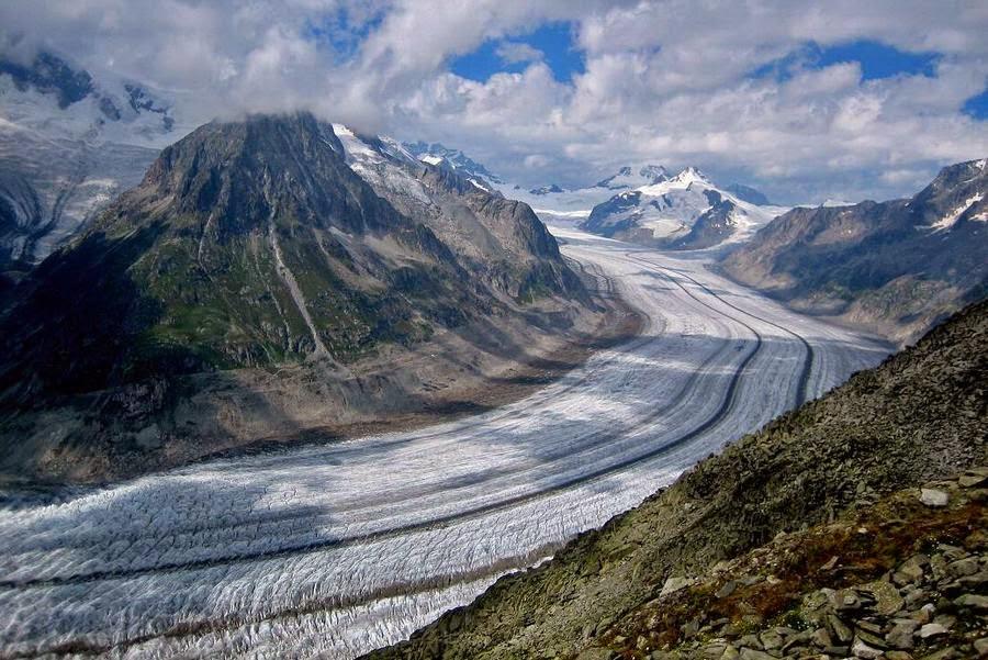 Glaciar Aletsch, Suiza, otra de las maravillas naturales del mundo