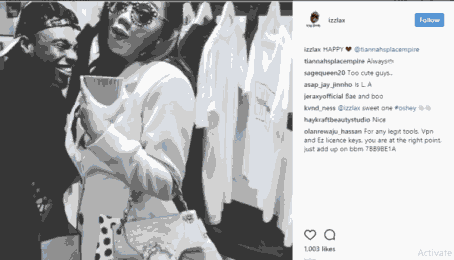 Toyin Lawani and Lax spark dating rumour! (Photos)