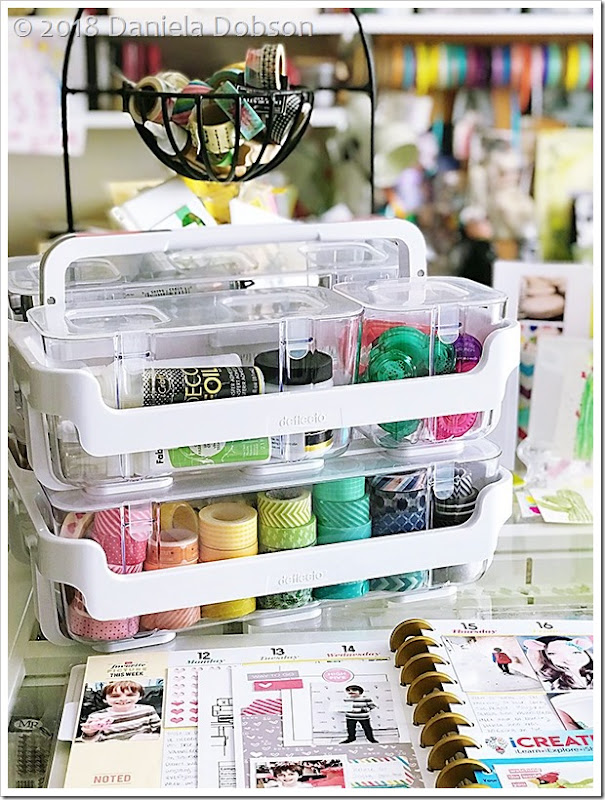 Caddy organizer washi 2 by Daniela Dobson