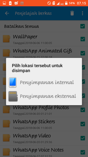 Cara Media Whatsapp Pindah KE SD CARD