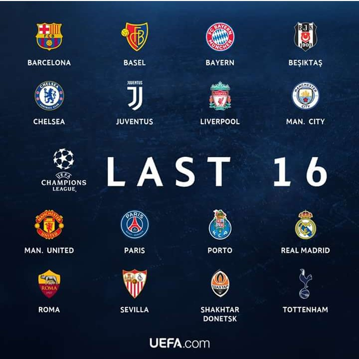 UEFA Champions League Round Of Fixtures BlackMedia - Uefa champions league fixtures table