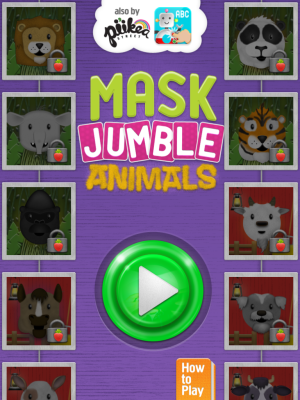 Mask Jumble Animals Main Page