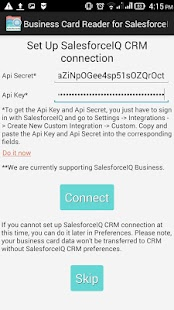 Free Business Card Reader for SalesforceIQ CRM- screenshot thumbnail