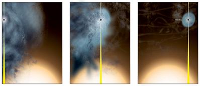 ilustração da origem do buraco negro supermassivo
