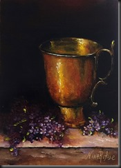Lilacs Around Copper Cup 3