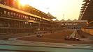 Sunset at Abu Dhabi mainstraight