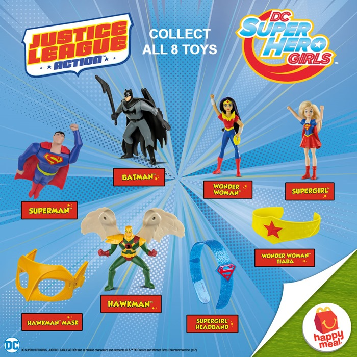 McDonalds DC Girls Justice League Happy Meal