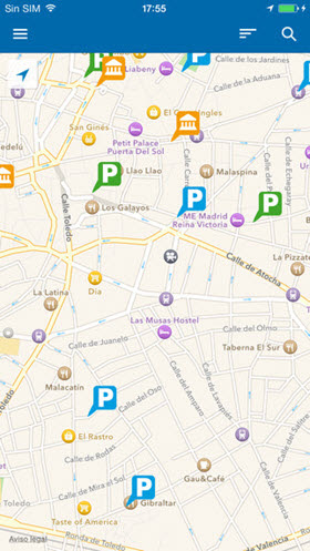 Nueva aplicación 'Parking Madrid' con información de 58 parkings públicos