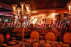 Fotos de decoração de casamento de Casamento Carolina e Thiago no Clube Piraquê Salão Capitânia da decoradora e cerimonialista de casamento Liliane Cariello que atua no Rio de Janeiro e Niterói, RJ.