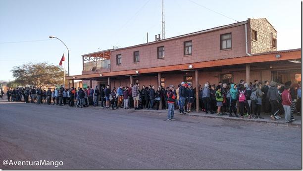 Fila na imigração chilena