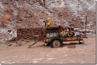 Valle de La Luna. Mineração abandonada
