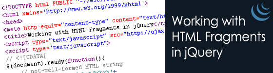 Working with HTML Fragments in jQuery